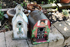 Bird Houses Royalty Free Stock Photography