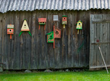 Bird houses Stock Images