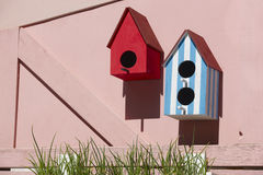 Bird houses Stock Image