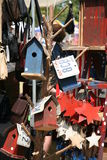 Bird houses one. Bird houses, multi-colord, homemade Royalty Free Stock Photography