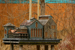 Minature Wooden Architecture Royalty Free Stock Images