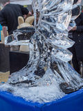 Bird ice sculpture at Sculpture Festival Royalty Free Stock Images