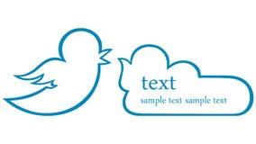 Bird Icon. Form for dialogue. Vector Stock Photos