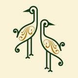 Bird icon  in decoration design Stock Image