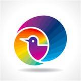 Bird icon  in decoration design Stock Photo