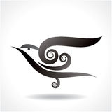 Bird icon  in decoration design Stock Photos