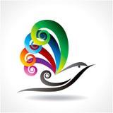 Bird icon  in decorative design Stock Image