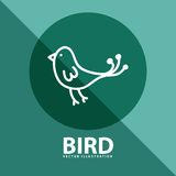 Bird icon Royalty Free Stock Photo
