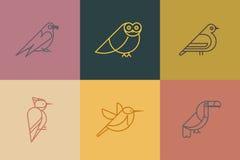 Bird icon set Royalty Free Stock Photography