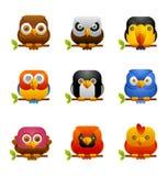 Bird icons 1 Stock Photos