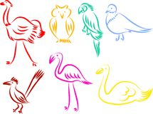 Bird icons Royalty Free Stock Photography