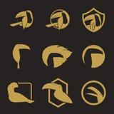 Bird icons. Design, bird shapes Stock Illustration