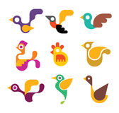 Bird icons Royalty Free Stock Photo