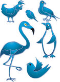 Bird icons stock image
