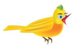 Bird illustration. Vector illustration of a yellow bird Stock Images