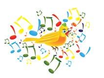 Bird illustration. Vector illustration of a yellow bird Stock Image