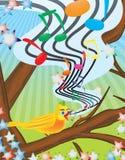 Bird illustration. Vector illustration of a yellow bird Royalty Free Stock Photo