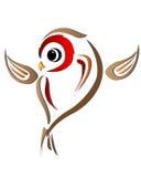 Bird ilustration. Colorful bird symbol illustration isolated on white Stock Image