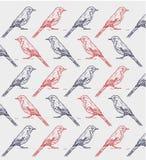 Bird ink pattern stock illustration
