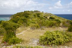 Bird Island, Antigua. Bird Island which belongs to Antigua royalty free stock image