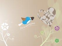 Bird jigsaw puzzle heart. EPS 10 Vector Stock Photography
