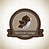 Bird label Royalty Free Stock Photography
