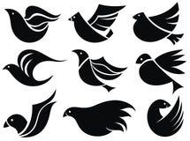 Bird labels. Tattoo design Royalty Free Stock Photos
