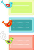 Bird labels Royalty Free Stock Photography