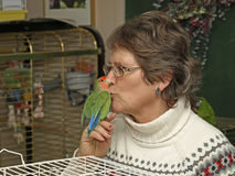 Bird lady Stock Image