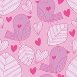 Bird leaf big pastel color seamless pattern Royalty Free Stock Photos