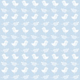 Bird and leaves pattern Stock Photo