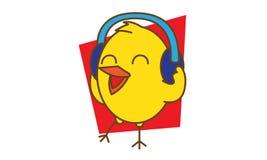 Bird Listening Music Stock Images