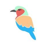 Bird logo beautiful multicolored Royalty Free Stock Images