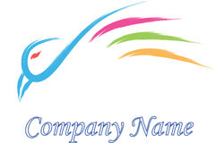 Bird logo company Royalty Free Stock Photography