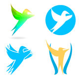 Bird logo Royalty Free Stock Photography