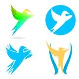 Bird logo Royalty Free Stock Photography