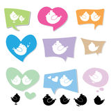 Bird logo on speech bubbles Royalty Free Stock Images