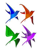 Bird logo. Various birds in the world Royalty Free Stock Images