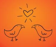 Bird_love Imagem de Stock