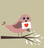 Bird in love Royalty Free Stock Images