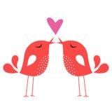 Bird love card Royalty Free Stock Photo