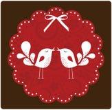 Bird love card Stock Photos