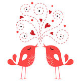 Bird love card Royalty Free Stock Image