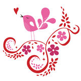 Bird love card Royalty Free Stock Photo