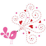 Bird love card Royalty Free Stock Photography