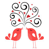 Bird love card Royalty Free Stock Images