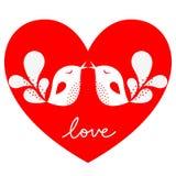 Bird love card Stock Image