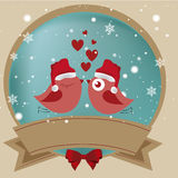 Bird love's icon Stock Photography