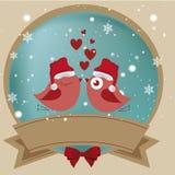 Bird love's icon Stock Photography