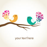Bird in love. Vector card Royalty Free Stock Images